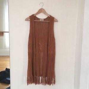 Sierra tan Forever 21 hippie vest/shawl women's M